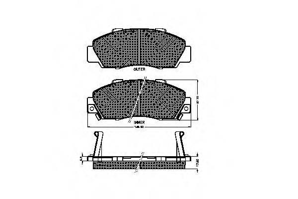 SPIDAN 30984 Комплект тормозных колодок, дисковый тормоз