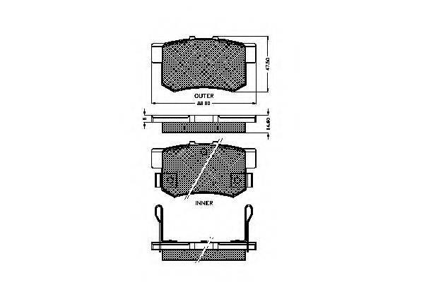 SPIDAN 31744 Комплект тормозных колодок, дисковый тормоз