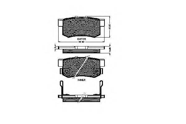 SPIDAN 31827 Комплект тормозных колодок, дисковый тормоз