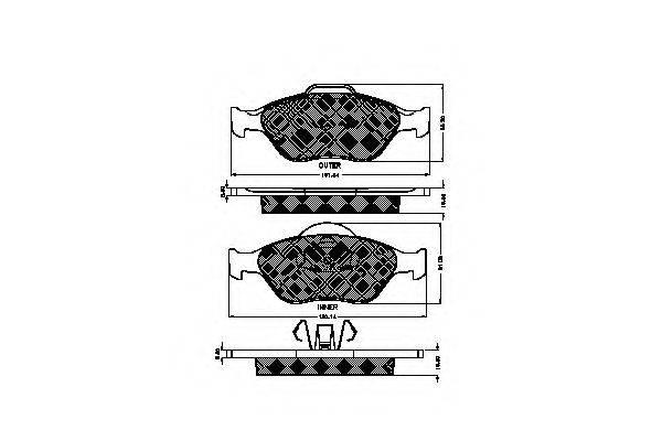 SPIDAN 32721 Комплект тормозных колодок, дисковый тормоз