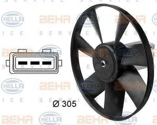 BEHR HELLA SERVICE 8EW009144411 Вентилятор, охлаждение двигателя