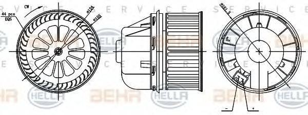 BEHR HELLA SERVICE 8EW351000361 Вентилятор салона