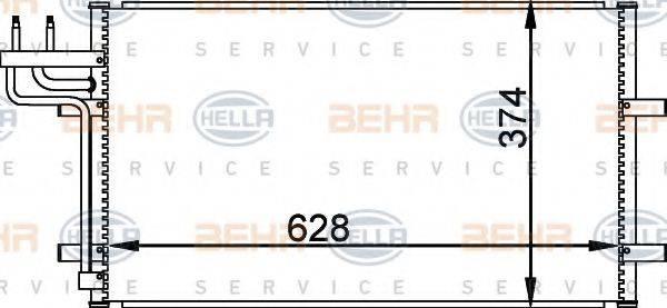 BEHR HELLA SERVICE 8FC351301731 Конденсатор, кондиционер
