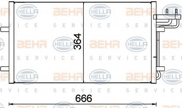 BEHR HELLA SERVICE 8FC351301734 Конденсатор, кондиционер