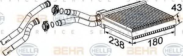 BEHR HELLA SERVICE 8FH351315641 Теплообменник, отопление салона