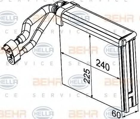 BEHR HELLA SERVICE 8FV351330721 Испаритель, кондиционер