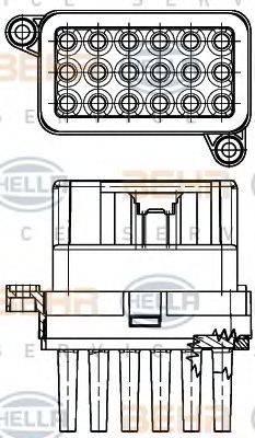 BEHR HELLA SERVICE 5HL351332341 Регулятор, вентилятор салона