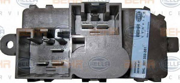 BEHR HELLA SERVICE 5HL351332351 Регулятор, вентилятор салона
