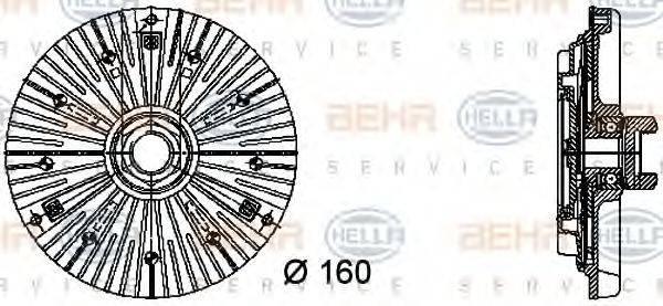 BEHR HELLA SERVICE 8MV376732401 Сцепление, вентилятор радиатора