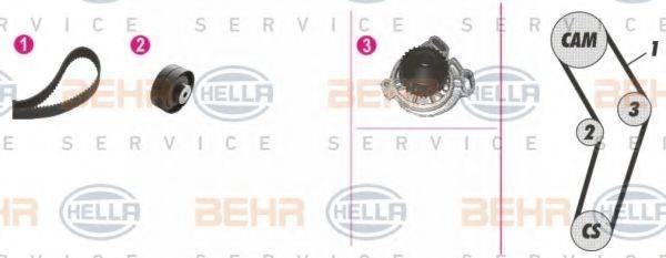 BEHR HELLA SERVICE 8MP376807851 Водяной насос + комплект зубчатого ремня