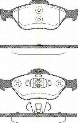 TRISCAN 811016008 Комплект тормозных колодок, дисковый тормоз