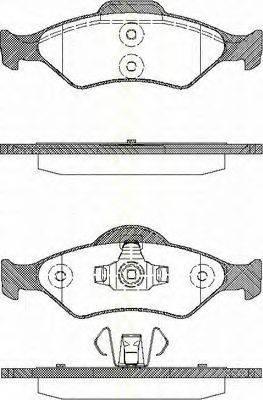 TRISCAN 811016014 Комплект тормозных колодок, дисковый тормоз