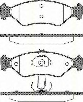 TRISCAN 811016168 Комплект тормозных колодок, дисковый тормоз