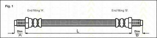 TRISCAN 815013003 Тормозной шланг