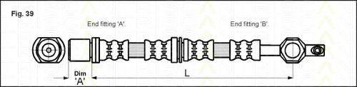 TRISCAN 815013104 Тормозной шланг