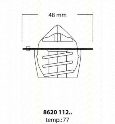 TRISCAN 862011277 Термостат, охлаждающая жидкость