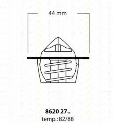 TRISCAN 86202782 Термостат, охлаждающая жидкость