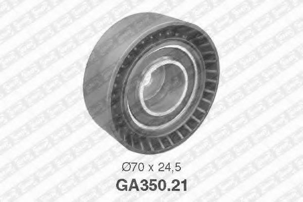SNR GA35021 Натяжной ролик, поликлиновой  ремень