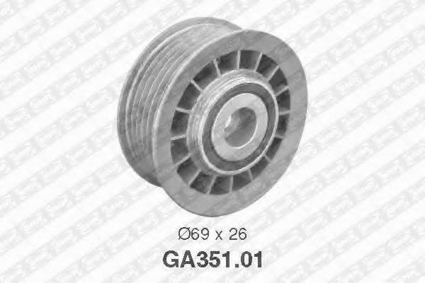SNR GA35101 Паразитный / ведущий ролик, поликлиновой ремень