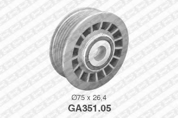 SNR GA35105 Паразитный / ведущий ролик, поликлиновой ремень