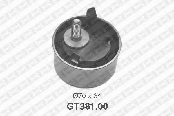 SNR GT38100 Натяжной ролик, ремень ГРМ