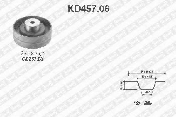 SNR KD45706 Комплект ремня ГРМ