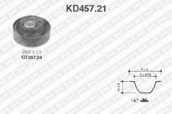 SNR KD45721 Комплект ремня ГРМ