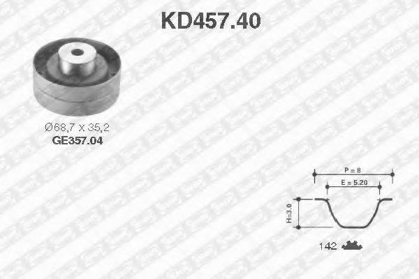 SNR KD45740 Комплект ремня ГРМ