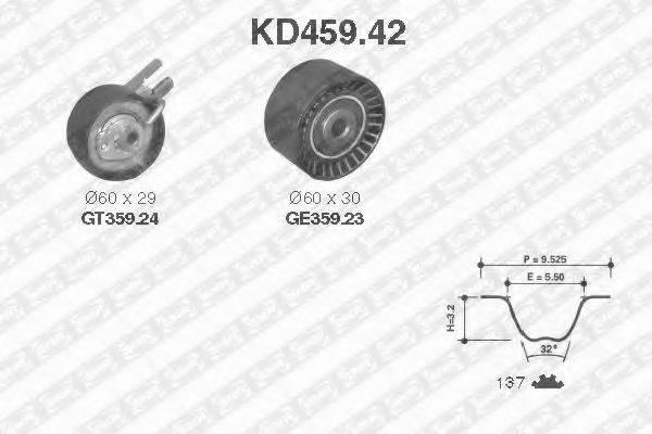 SNR KD45942 Комплект ремня ГРМ
