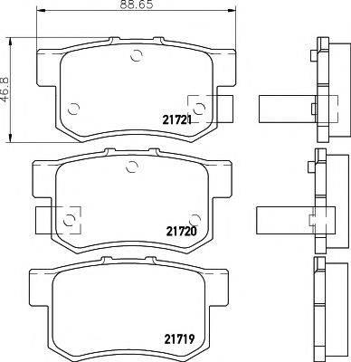 PAGID T3017 Комплект тормозных колодок, дисковый тормоз