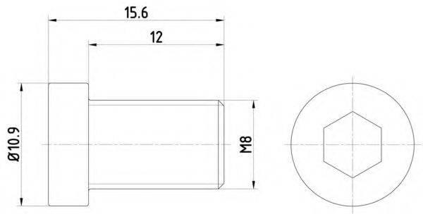 PAGID TPM0009 Болт, диск тормозного механизма