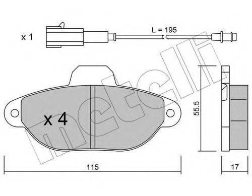 METELLI 2201592 Комплект тормозных колодок, дисковый тормоз