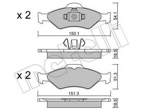 METELLI 2203150 Комплект тормозных колодок, дисковый тормоз