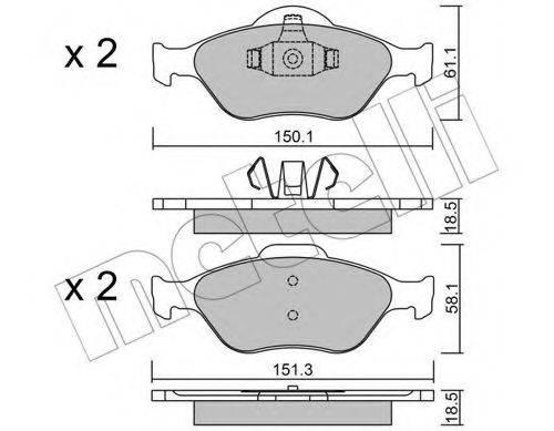 METELLI 2203160 Комплект тормозных колодок, дисковый тормоз