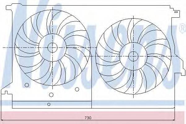 NISSENS 85404 Вентилятор, охлаждение двигателя