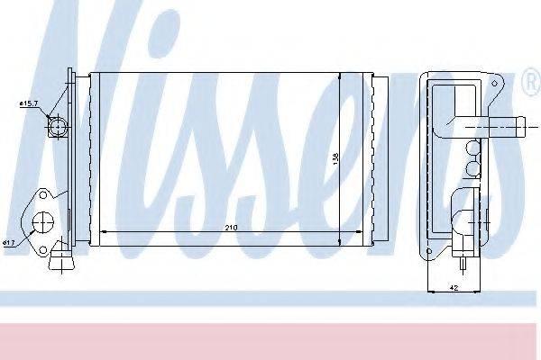 Теплообменник, отопление салона NISSENS 73964