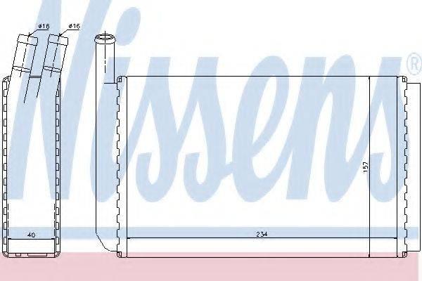 Теплообменник, отопление салона NISSENS 73940
