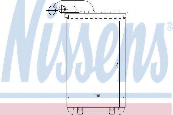 Теплообменник, отопление салона NISSENS 73252