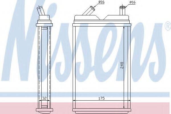 Теплообменник, отопление салона NISSENS 73624