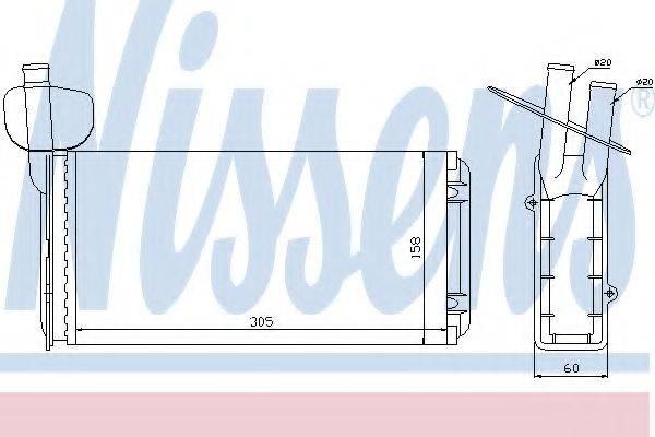 Теплообменник, отопление салона NISSENS 73965