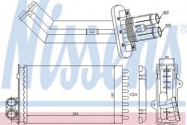 Теплообменник, отопление салона NISSENS 73362