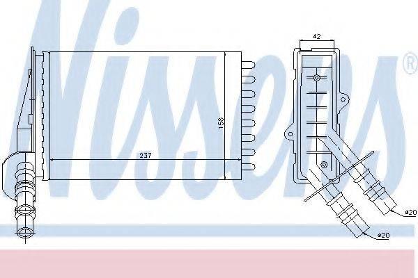 Теплообменник, отопление салона NISSENS 73374