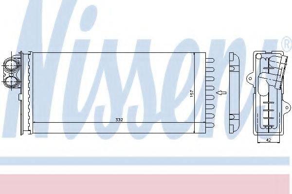 Теплообменник, отопление салона NISSENS 73375