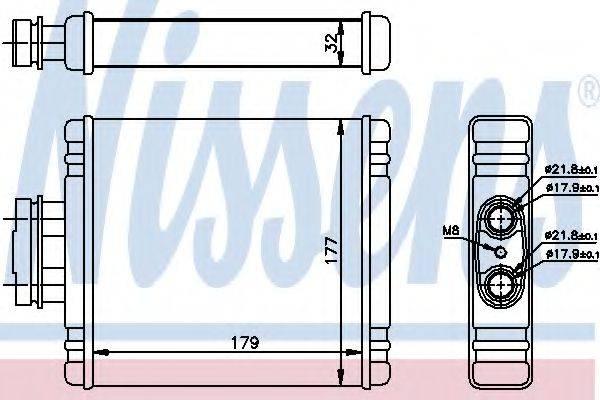 Теплообменник, отопление салона NISSENS 73981
