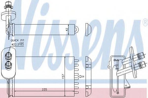 Теплообменник, отопление салона NISSENS 73921