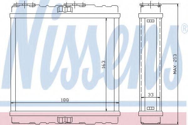Теплообменник, отопление салона NISSENS 73379