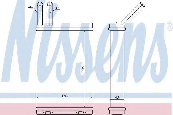 Теплообменник, отопление салона NISSENS 73642