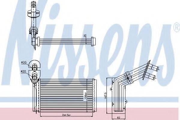 Теплообменник, отопление салона NISSENS 73973