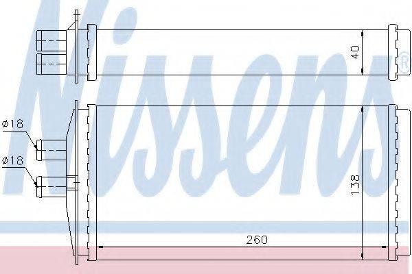 Теплообменник, отопление салона NISSENS 73655