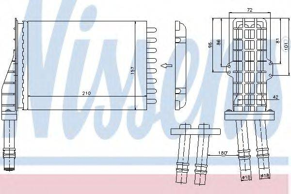 Теплообменник, отопление салона NISSENS 73258